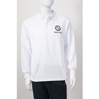 Water Polo White Long Sleeve Polo