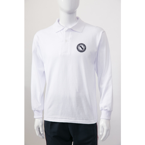BSHS White Long Sleeved Polo Size 2XS